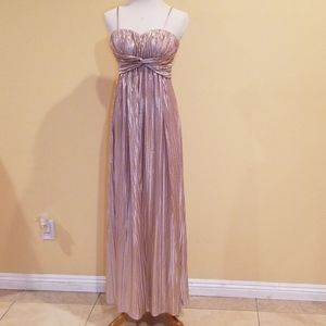 Jessica Simpson Rose Gold Strappy Gown Size 6
